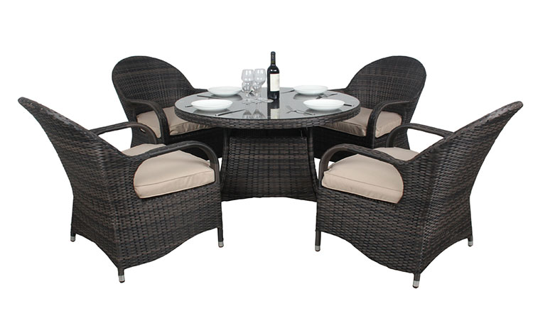 Good quality furniture wicker dining table and chairs leisure outdoor rattan wicker table and chairs