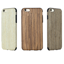 Simple cool shockproof drop proof wood case for iphone 6 4.7 inch 5.5 inch flex tpu non slip real wood case for iphone 6