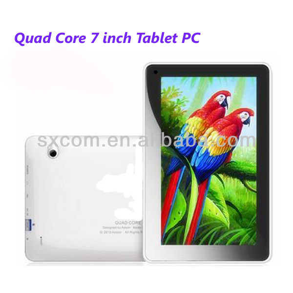 1024*600 cheapest 7inch quad-core table pc with IPS screen and android 4.2OS