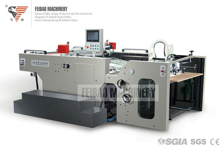 SGIA ISO CE Automatic Stop Cylinder Screen Printing Machine For Picture Album FB-1020 SC