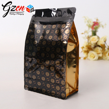 high quality plastic eight edge sealing packing raisin coffee bags printing