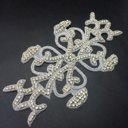 Rhinestone Applique for Wedding Dress Bridal Gown Applique Crystal Sash,crystal embellishments rhinestone applique