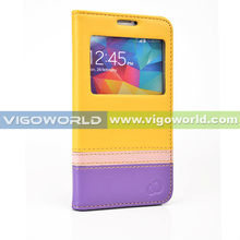 VIGOWORLD Vivid Series Colorful Easy Call PU Leather Cell Phone Case For Samsung S5 i9600