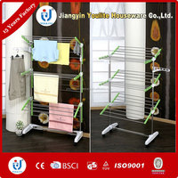 folding foldable stainless steel retractable clothes hanger