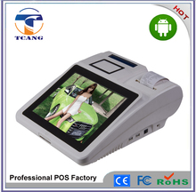 Support Android System 7inch touch POS terminal with receipt printer 3G NFC ethernet WIFI smart card reader