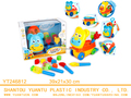 New eco-friendly cute educational luggage car sorted blocks toys with beach tools