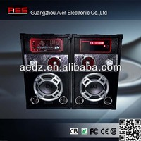 Aier active public stage speaker sound with USB/SD/FM with led usb sd fm bt