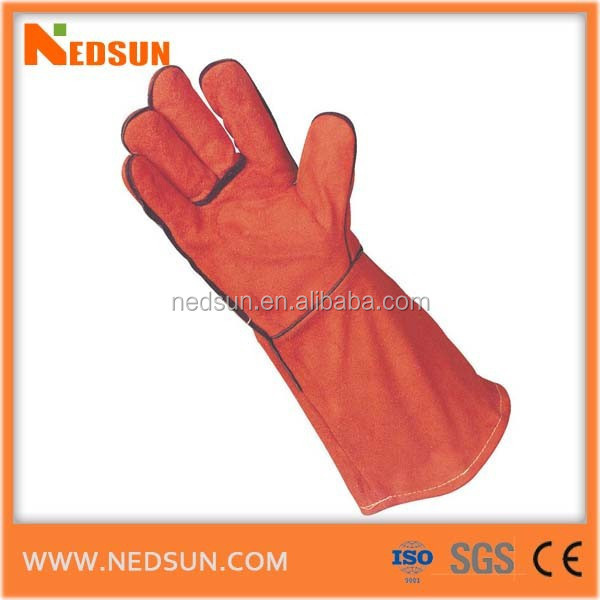 Grade AB welding working leather gloves regular type