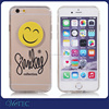 Smiling face stretch For iPhone 6 6s custom tpu pc transparent clear case