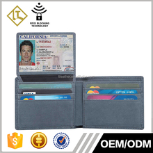 Men's genuine Leather Bifold Wallet Removable Flip Up ID Window RFID blocking credit card holder thin men leather wallet