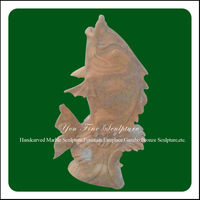 Outdoor garden decoration stone fish sculpture