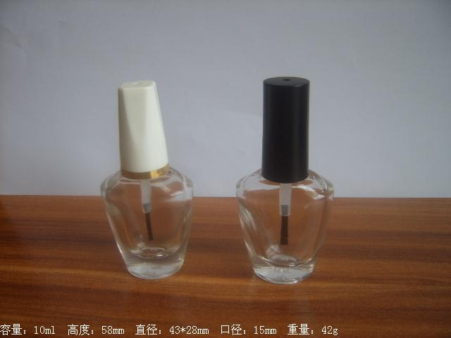 Free samples 10ml Nail Polish Bottles Screw Cap With Brush Small Empty Cosmetics Packaging Clear Glue Glass Bottles