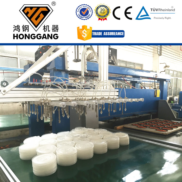 automatic foam sheet plastic thermoforming cup cover press machine