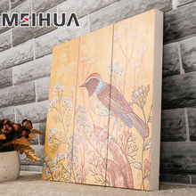 Unique natural wood art handicraft engraving uv print