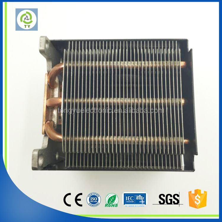 extruded chipset heat pipe coolers made in China