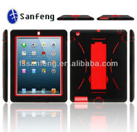 New arrival!!hot selling gel silicon kickstand case for ipad2/3/4 cellphone case;special design protective for case ipad2/3/4