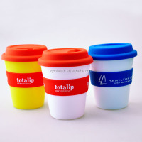 300ML Bpa Free mug with cover and Double Wall Insulated Plastic Tumbler Cup With Straw And Lid
