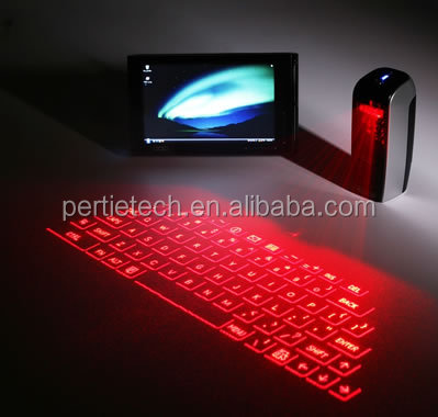 new style smallest bluetooth keyboard LED backlight mini laser keyboard