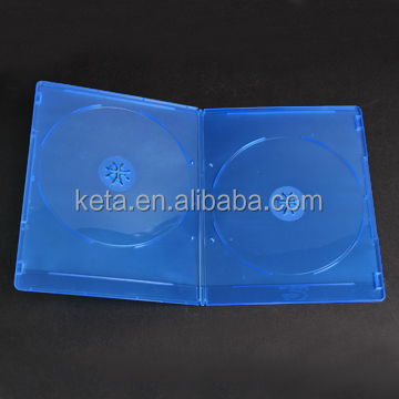 Premium Quality 7mm Blue Color Double DVD Discs Slim Blu Ray Case