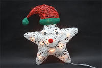 Plastic paper star with lights