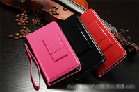 New Products Luxury PU Leather Wallet Case Flip Cover Mobile Phone Bag For iPhone 5 5S 6 6Plus With Strap Card Holder