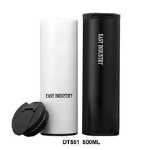 DT551 500ML/17OZ Travel Vacuum Insulated Stainless Steel Tumbler Wholesale With Plastic Lid