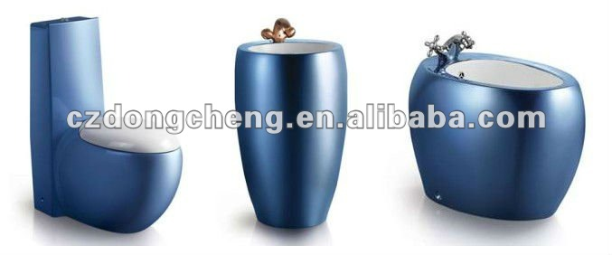 A3966 ceramic luxury modern blue color toilet