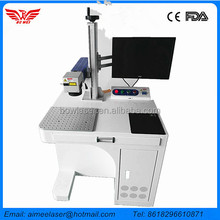 Cheap price 10w 20w 30w 50w mini metal optical Fiber color Laser Wire Marking Machine for cellphone and computer keyboard