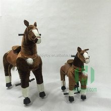 HI S/M/L good quality mechanical walking toy horses mechanical ride on horse