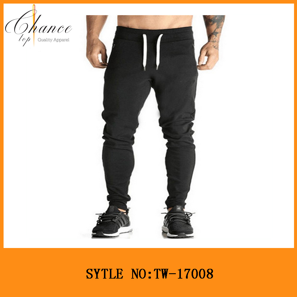 TW-17008 High Fashion Polyester Cotton Drawstring Sweat Pants Wholesale Custom Blank Mens Joggers