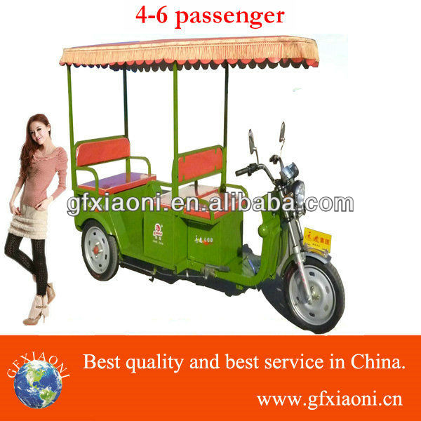 3 wheel car electric tricycle electric riskshaw for passenger