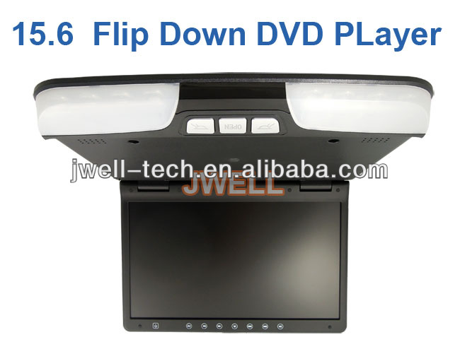 15 inch touch osd key flip down monitor dvd player with ce rohs verified