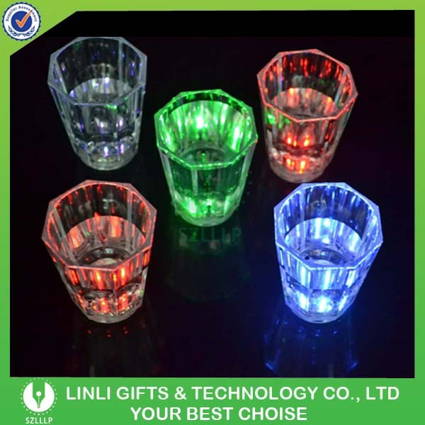 Plastic Light-Up Liquid Activated Ice Glass