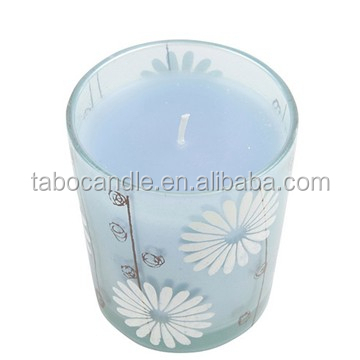 scented candle fragrances with glass holder