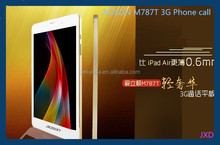 2014 New arrival in June Aoson M787T Gold color 7.9 inch 1G Ram 8GB 3G phone call tablets mtk8382 quad core