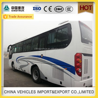 Discount 45 seats tour shaolin bus with leather bus seats china manufacture