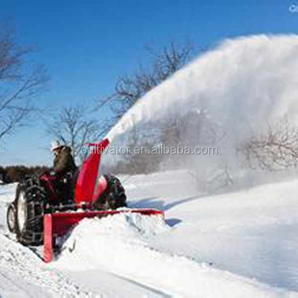 Tractor rear mounted PTO driven snow blower