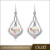 2017 New Fashion Design Water Droplets Earrings Colorful Crystal Natural Stone Earrings