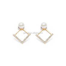 Pearl and diamond earrings ear jacket famous jewelry brands