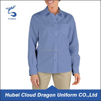 Factory outlets best price formal ladies' work shirt uniforms for sale