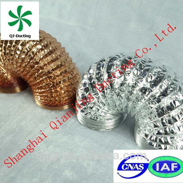 easy to install flexible heat resistant duct hose for wholesales duct type air conditioner