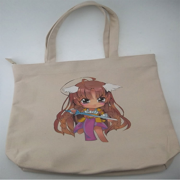 alibaba china Beige Promotional canvas tote shopping bag