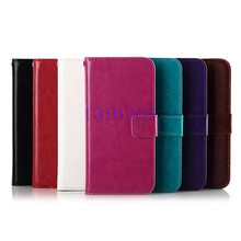 Hot Sale Crazy Horse PU Leather Wallet Flip Slots Stand Cover Skin Case for HTC One M4 M7 M8 M8 Mini Desire 310