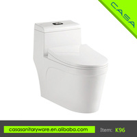 Super momentum white siphonic double-hole one piece composting toilet