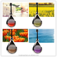 Hanging car air freshener perfume one water drop glass ornament