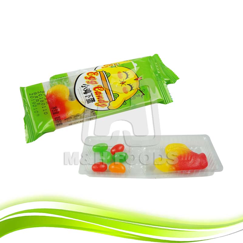 Hen Shaped Soft Candy Jelly Bean Candy in Trays