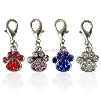 Wholesale Paw Print Charms And Clasp With Pendant