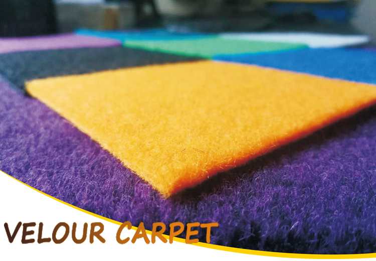 Exhibition custom rugs carpets needle punched velour jacquard carpet colour ranges of woven carpets