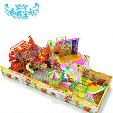 Kids manufacture indoor playground slide mall