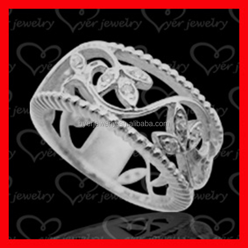 925 Sterling silver plated ring Women Fashion jewelry Wholesale